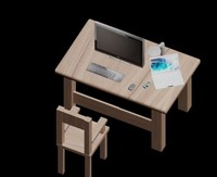 3d model office lot componement