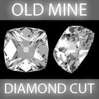 3d model old diamond cut