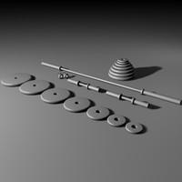 olympic bars 3d model