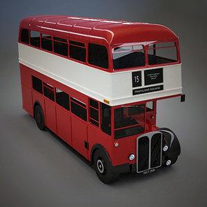 3d model of aec regent bus