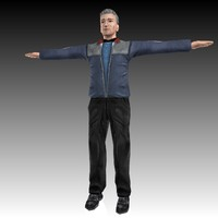 3d male station guard
