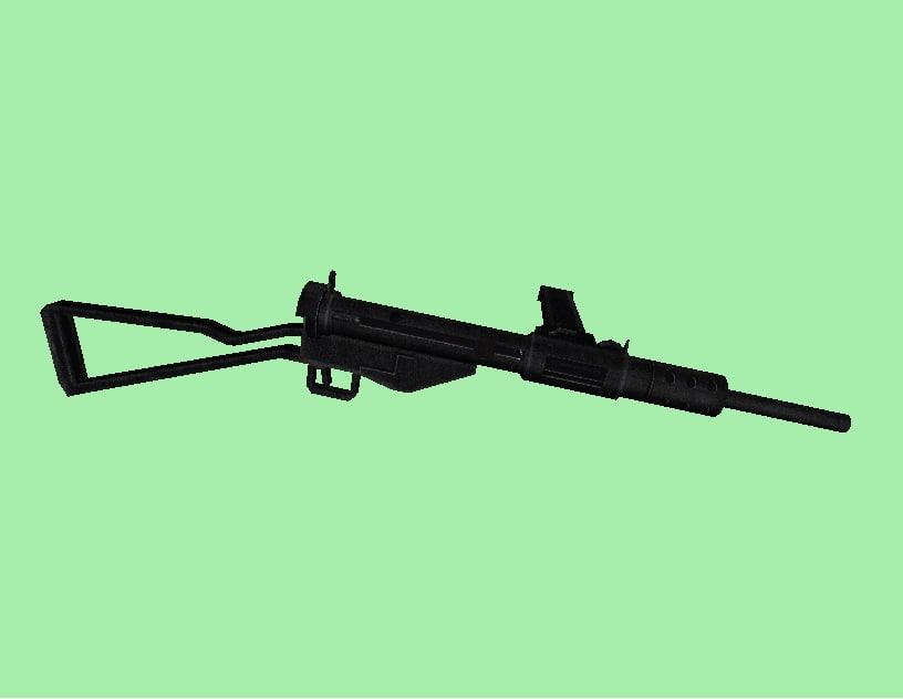 sten sub machine gun weapon dxf