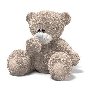 3dsmax teddy bear toy