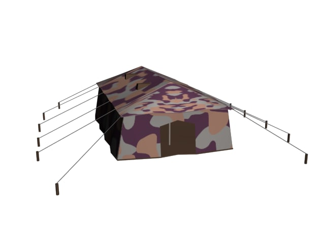 army tent 3d model