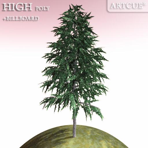 fir tree 3d dxf