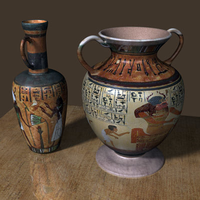 maya egyptian urns