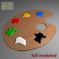 3d model paint palette