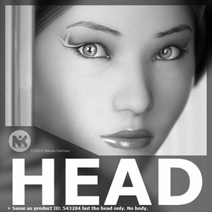 3d model realistic female mei 2head
