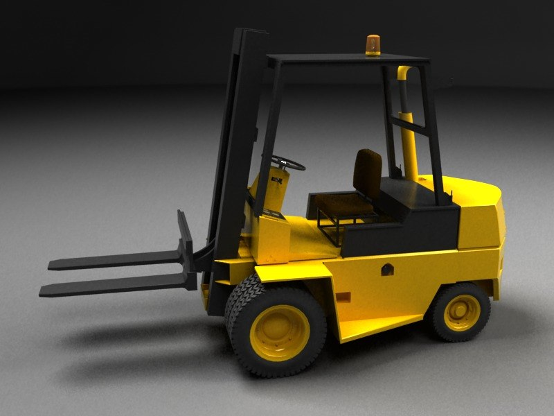 vehicle forklift lift 3ds