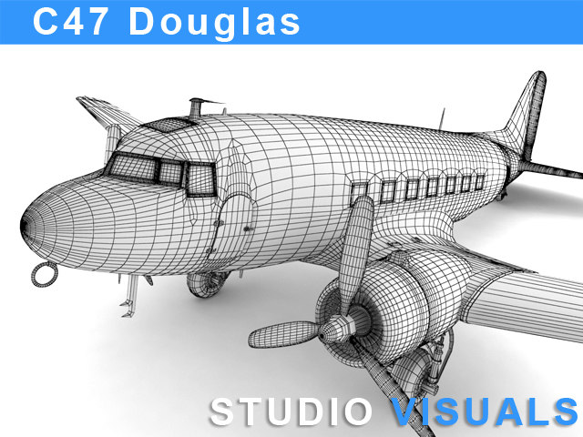3d max douglas c-47 skytrain