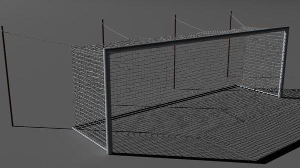 free soccer goal 3d model