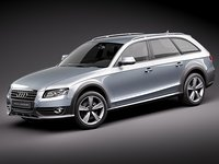 audi a4 allroad 2010 3d model