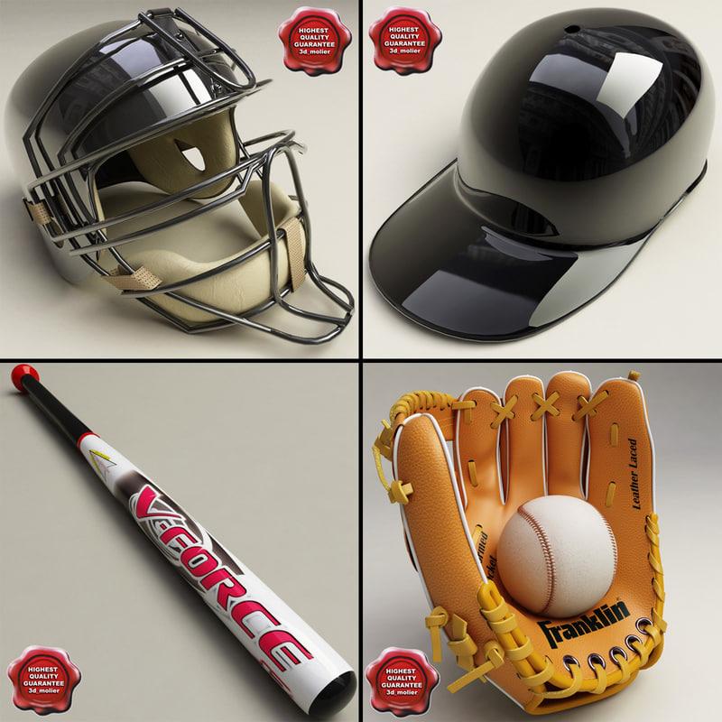 3d model baseball v2