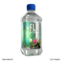 3d model fiji water bottle