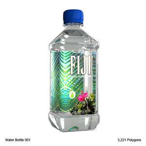 3d model fiji water bottle