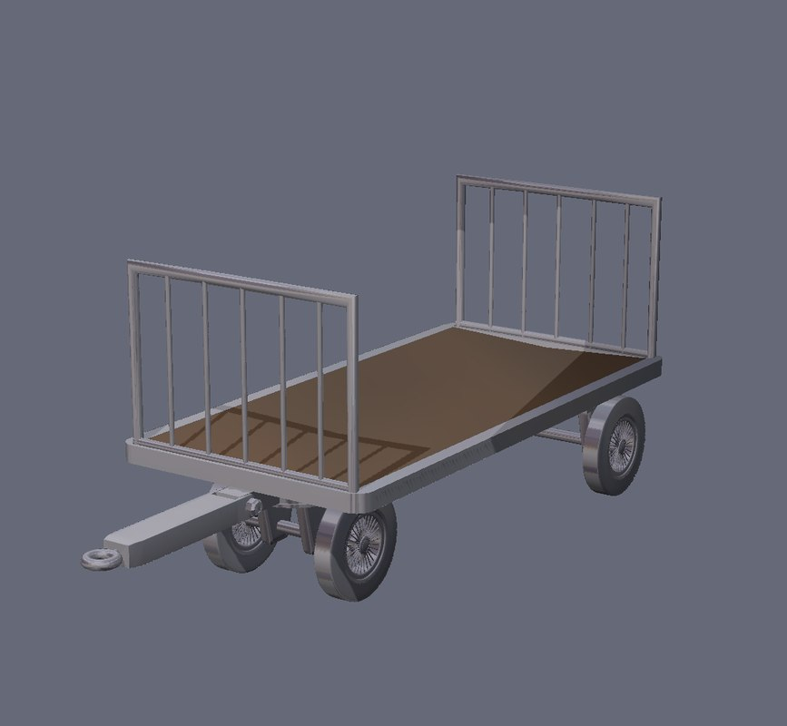 dxf baggage cart