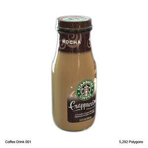 3d lwo bottle coffee drink