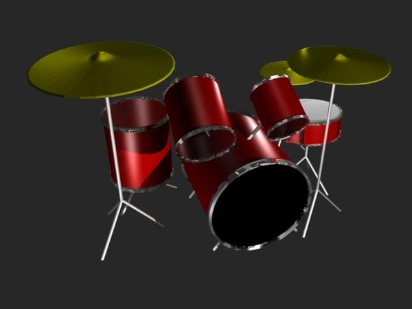 drumset drums 3d blend