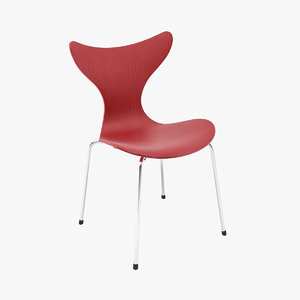 3d arne jacobsen lily chair