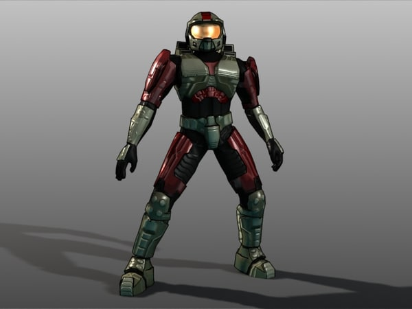 master chief 3d model