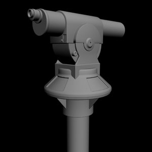 coin telescope 3d model