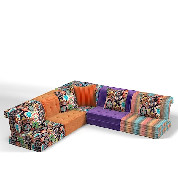 Roche bobois sectional 3d model for Mah jong divano