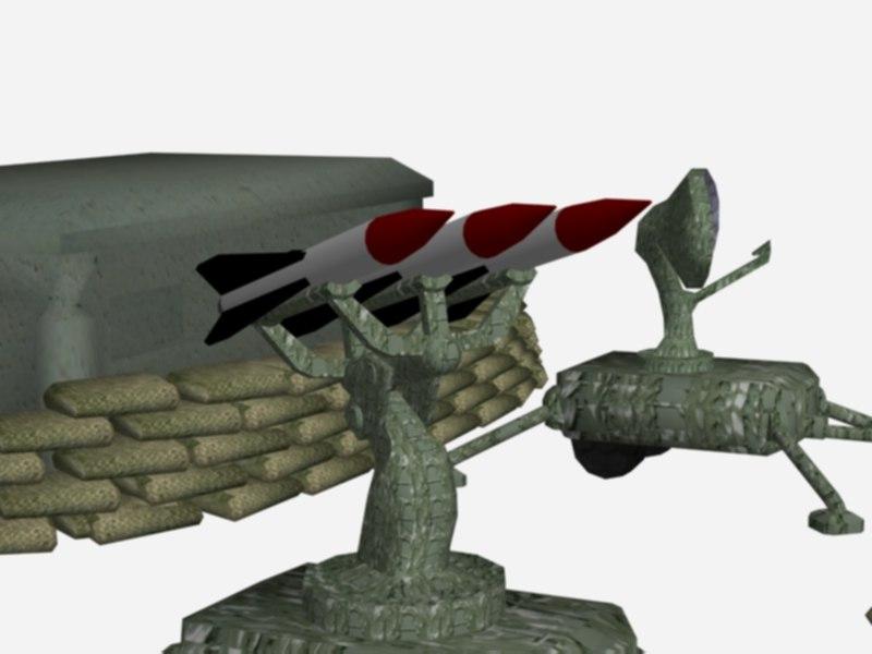 sam site kit bunker 3d model