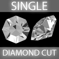 single diamond cut obj