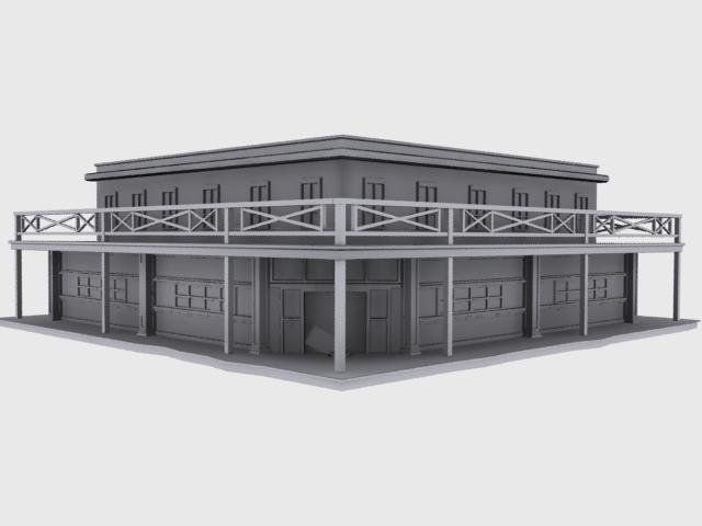 3d model old west saloon