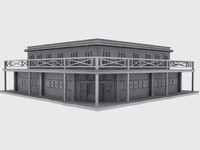 3d model old west saloon
