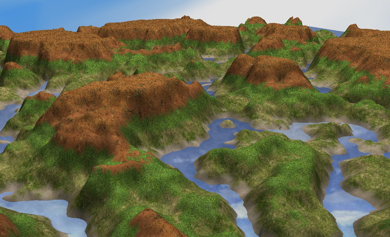 3d resolution ready terrain model
