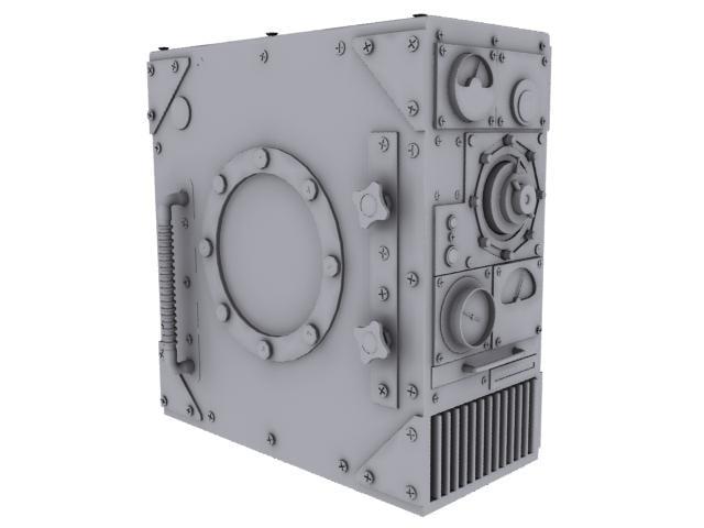 steam punk computer case 3d model