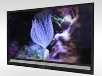 flat screen television 3d c4d