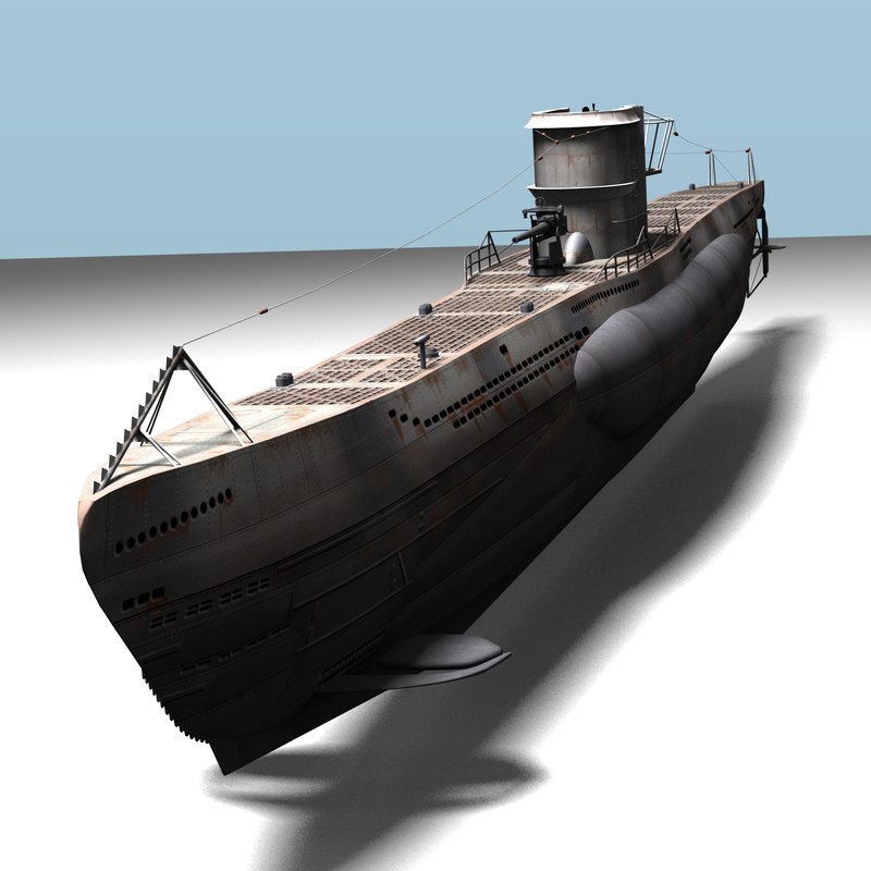 3d obj type viic u-boat u-96