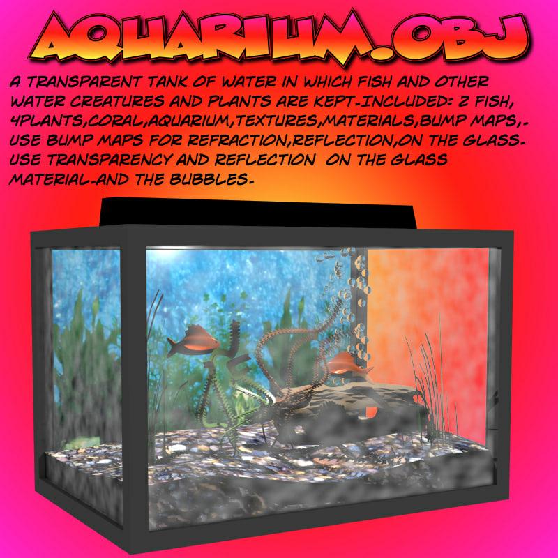 aquarium tank fish 3d obj