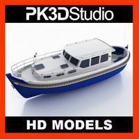 yacht kaper 3d c4d