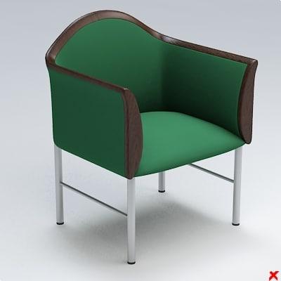 armchair chair 3d dxf
