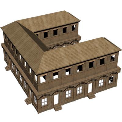3d ancient roman house model