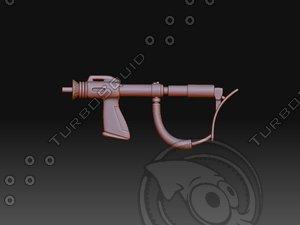 maya cyberman gun rifle