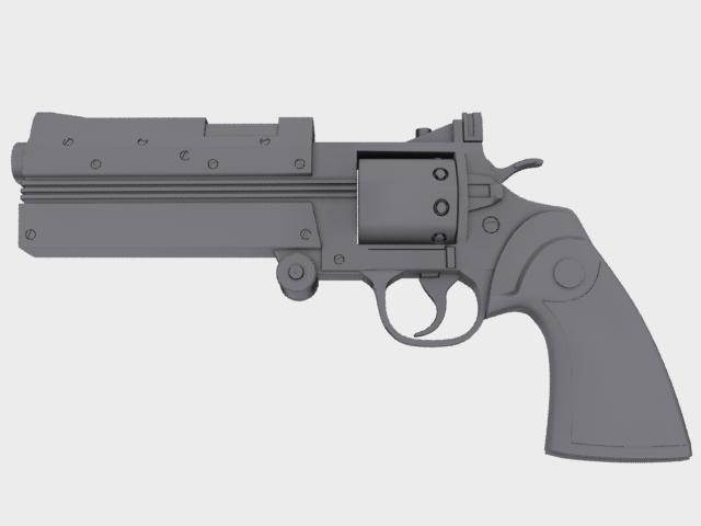 3d model police revolver