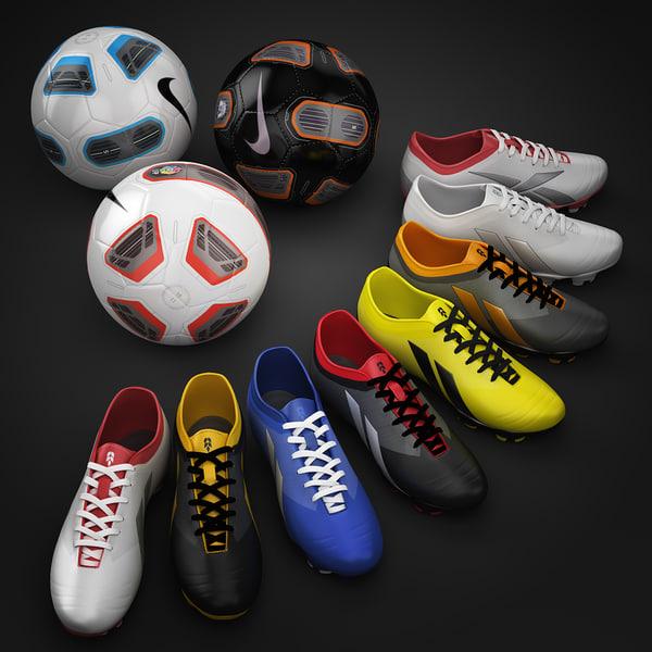 ball soccer shoes 3d model