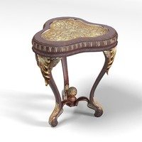 Jumbo classic baroque side table soffee small_1