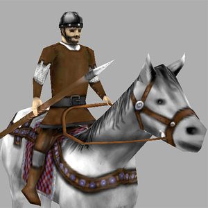 light cavalry horse 3d model