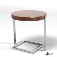mobilidea modern round side coffee table