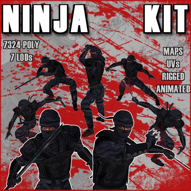 3d model ninja kit