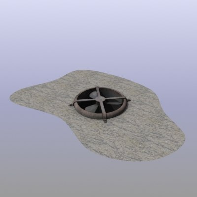 fan rust rusty 3d model