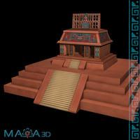 temple sun palenque 3d max