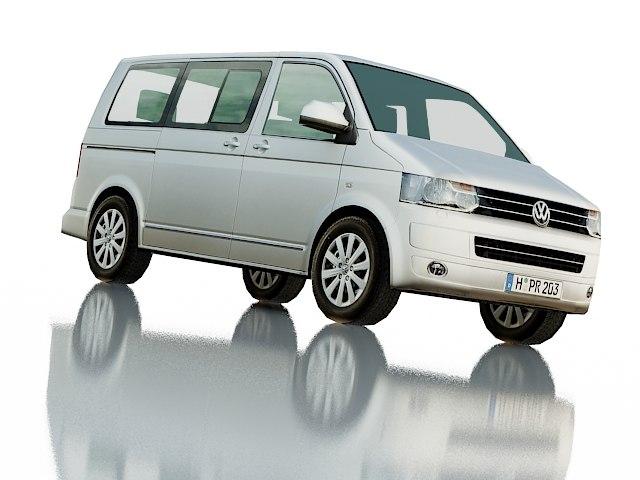 3d volkswagen t5 multivan