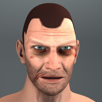 ugly man head 3d max