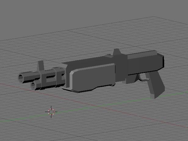pump shotgun obj